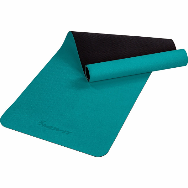 MOVIT® TPE Gymnastikmatte, 190x60x0,6cm, dunkelgrün