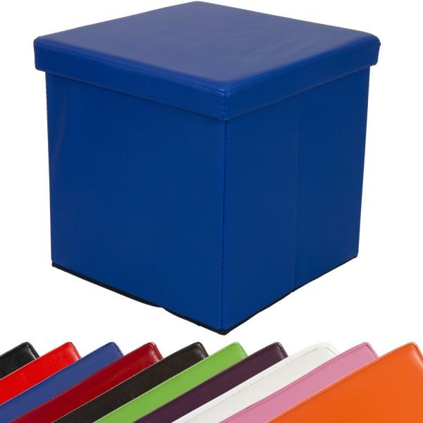 STILISTA® Faltbox, Sitzhocker, Sitzwürfel, Blau