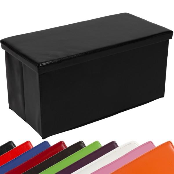STILISTA® Bigbox, Faltbox, Sitzhocker, Sitzwürfel, Schwarz