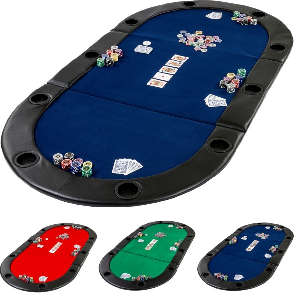 Pokerauflage Pokertisch klappbar faltbar, Farbe blau