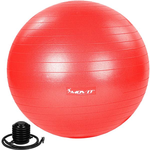 MOVIT® Gymnastikball mit Fußpumpe, 65 cm, rot