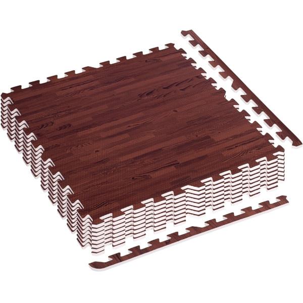 MOVIT® Schutzmatten Set 3m² Printdekor Holz dunkel