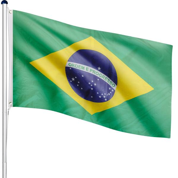 FLAGMASTER® Aluminium Fahnenmast Brasilien 6,50m
