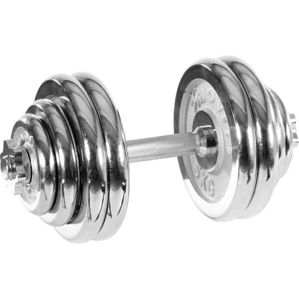 MOVIT® 30 kg Chrom Profi Kurzhantel Set, Gusseisen, Hantel