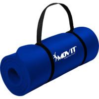 MOVIT Gymnastikmatte, 183x60x1,0 cm, Yogamatte, Dunkelblau