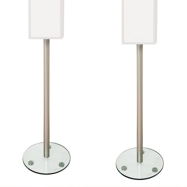 STILISTA® 2er Set Lautsprecherständer, mit Glasfuß