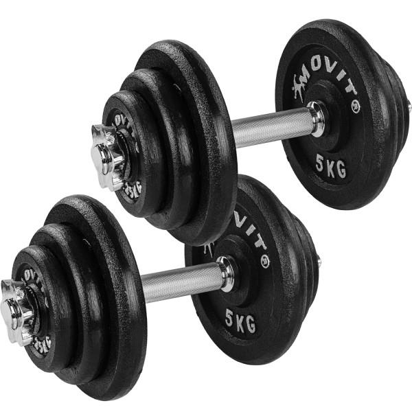 MOVIT® 2x 20 kg Profi Kurzhantel Set, 40 kg