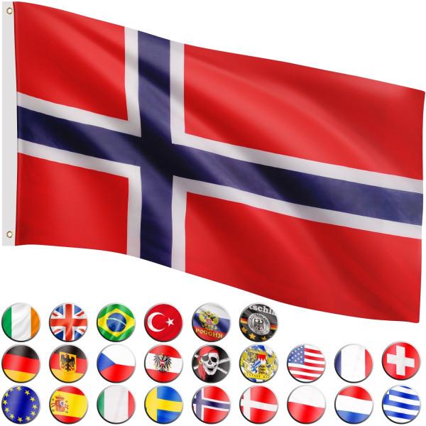 FLAGMASTER® Fahne Norwegen Flagge