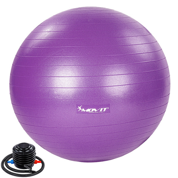 MOVIT® Gymnastikball mit Fußpumpe, 55 cm, violett