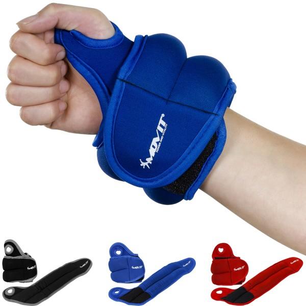 MOVIT® 1,0 kg Neopren Gewichtsmanschetten Laufgewichte blau