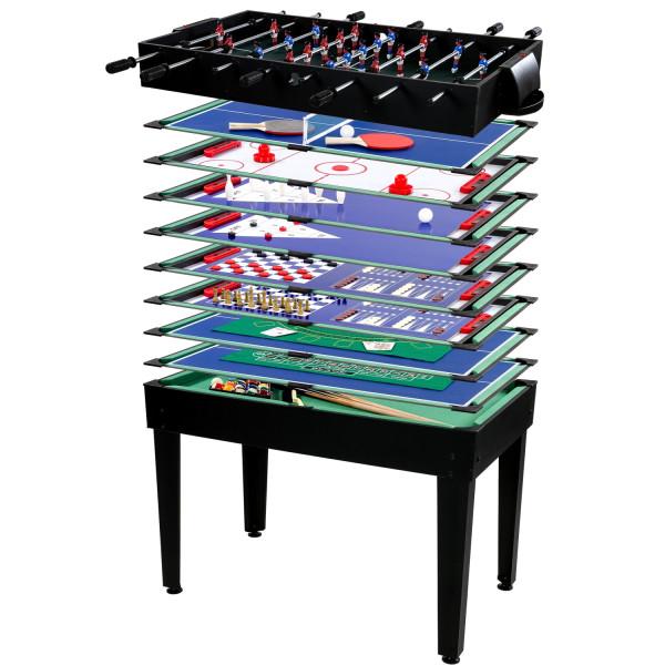 Multigame Spieletisch 15 in 1, schwarz