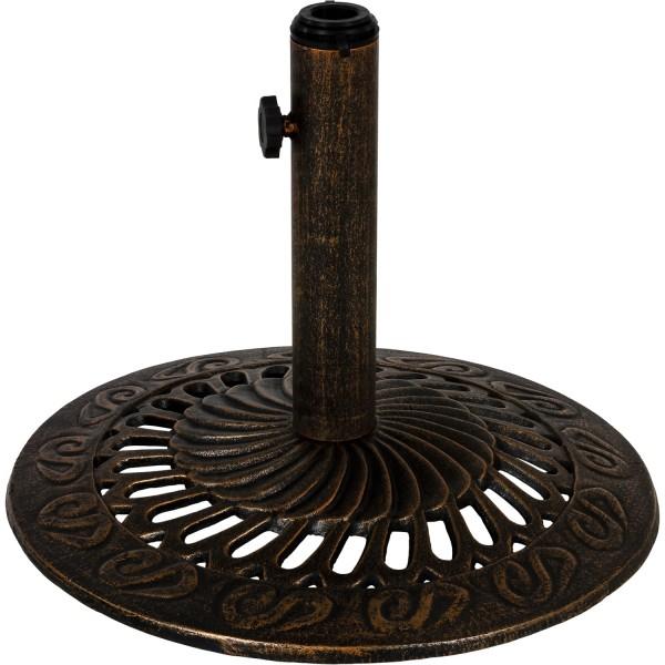 Sonnenschirmständer Gusseisen bronze, 12 kg