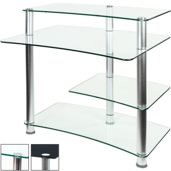 STILISTA® PC Büro Computertisch, Schreibtisch, Klarglas