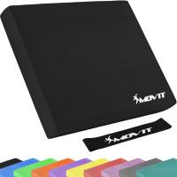 MOVIT® Balance Pad Sitzkissen schwarz mit Gymnastikband