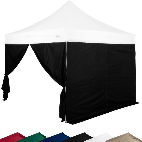 STILISTA® Seitenteile RV Pavillon 2er Set schwarz, 3x3 m