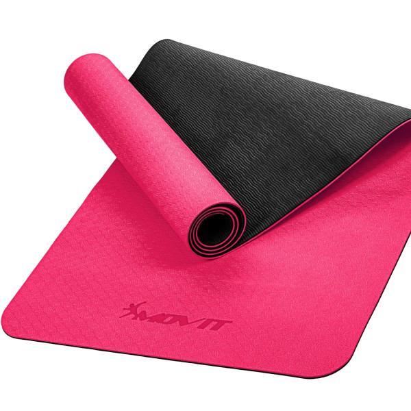 MOVIT® TPE Gymnastikmatte, 190x100x0,6cm, pink