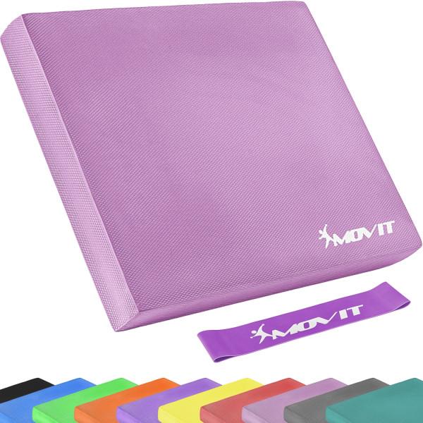 MOVIT® Balance Pad Sitzkissen pink mit Gymnastikband