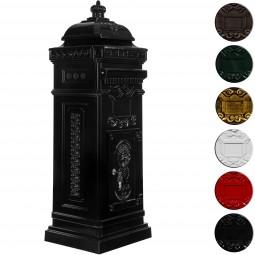 Antiker englischer Standbriefkasten aus rostfreiem Aluminium, Farbe: Bronze, Höhe: 102,5 cm, Briefkasten Postkasten