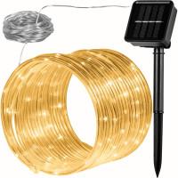 VOLTRONIC® 100 LED Solar Lichterschlauch, warm-weiß