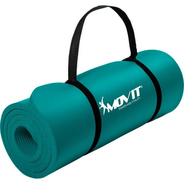 MOVIT® Gymnastikmatte, 190x60x1,5cm, Blau Petrol