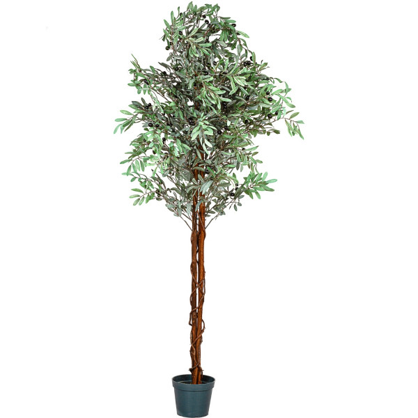 PLANTASIA® Olivenbaum, Kunstbaum, Kunstpflanze, 180cm