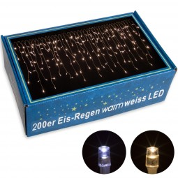 VOLTRONIC® 200 LED Lichterkette Eisregen, warm-weiß