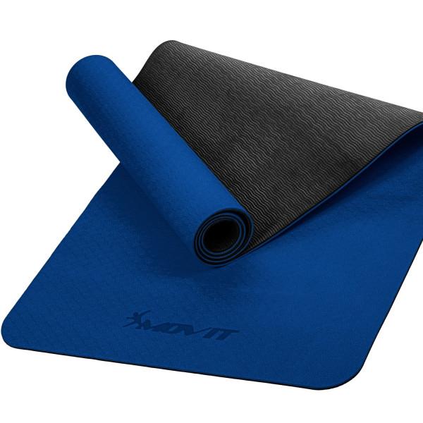 MOVIT® TPE Gymnastikmatte, 190x60x0,6cm, dunkelblau