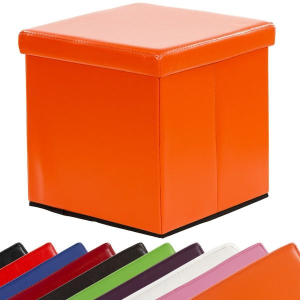 STILISTA® Faltbox, Sitzhocker, Sitzwürfel, Orange