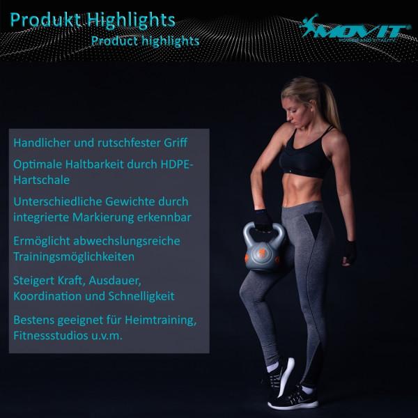 MOVIT® 20 kg Kettlebell Kugelhantel grau