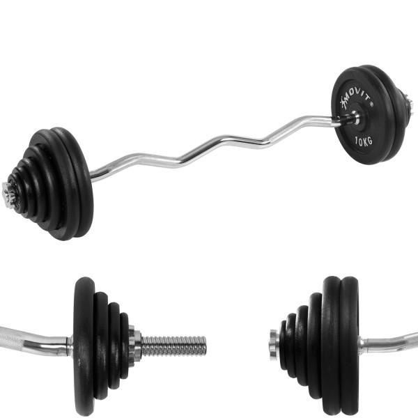 MOVIT® Profi Curl Hantelset 120cm 66.5 kg Hantel Set