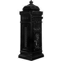 Säulenbriefkasten, Postkasten antik anthrazit