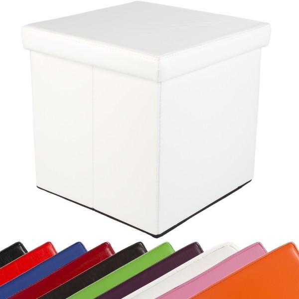 STILISTA® Faltbox, Sitzhocker, Sitzwürfel, Weiß