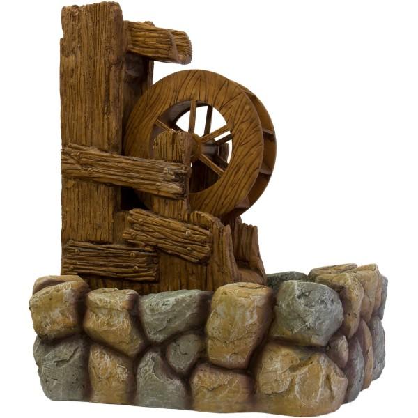 STILISTA® Gartenbrunnen, Wasserrad 57 x 52 x 73 cm