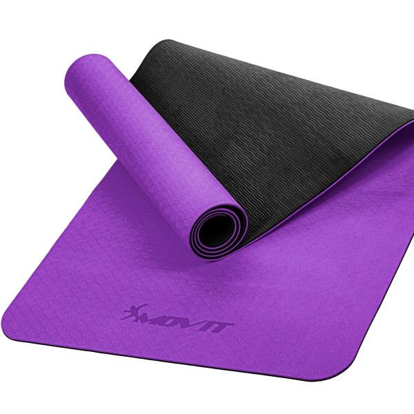 MOVIT® TPE Gymnastikmatte, 190x100x0,6cm, violett