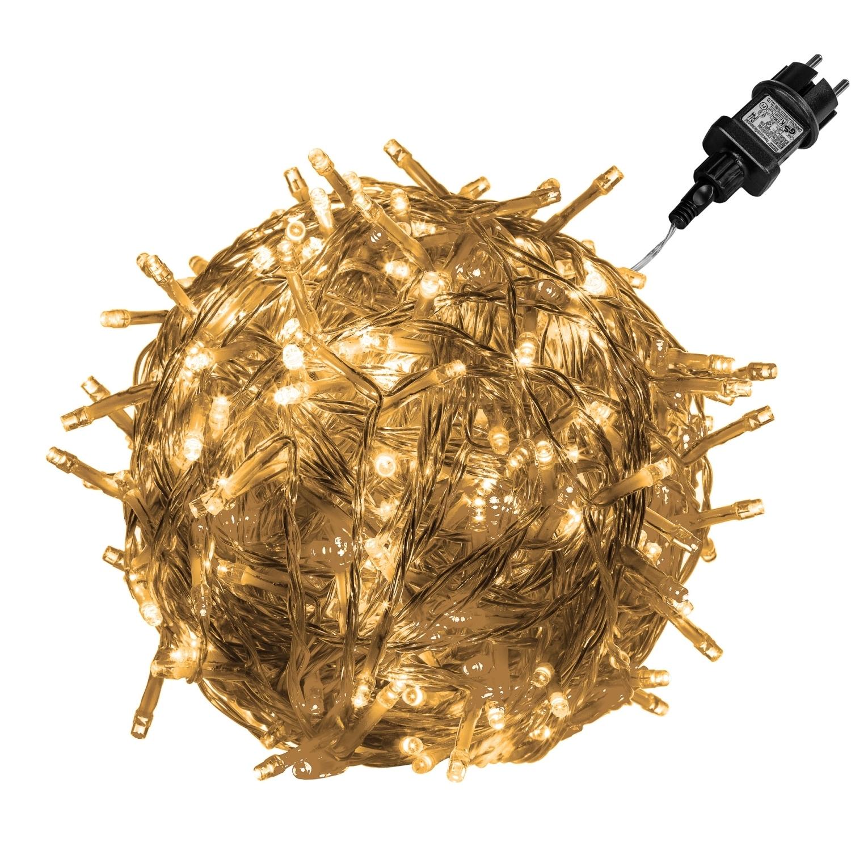 Voltronic 600 led lichterkette warm wei kabel transp for Fahnenmast lichterkette