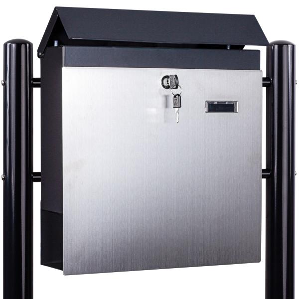 STILISTA® Standbriefkasten Stahl MIX mit Anthrazit Beinen 37