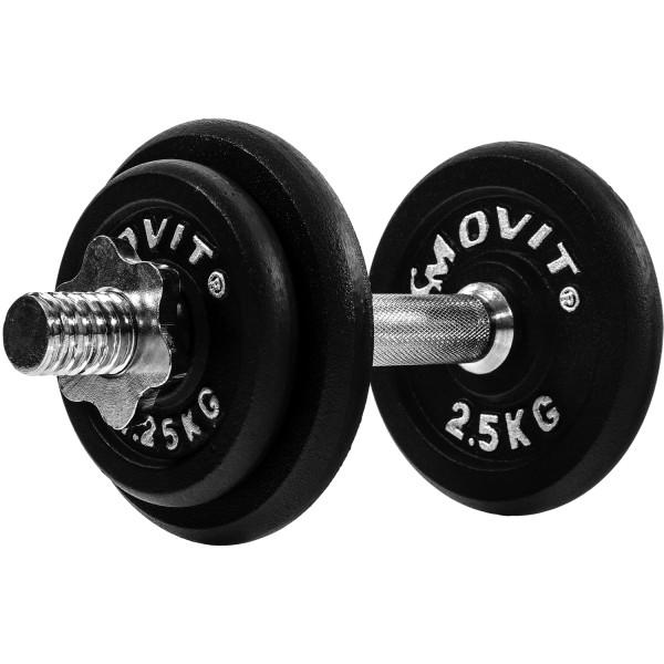 MOVIT® 10 kg Profi Kurzhantel Set, Gusseisen, Hantel