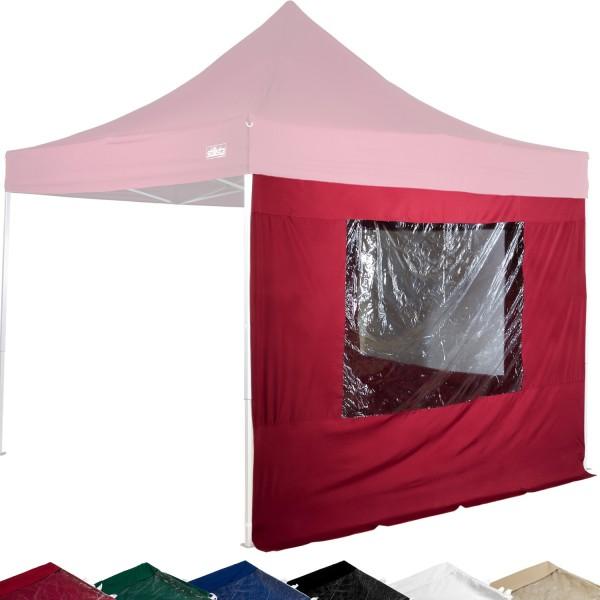 STILISTA® Seitenteile Fenster Pavillon 2er Set burgund, 3x3m