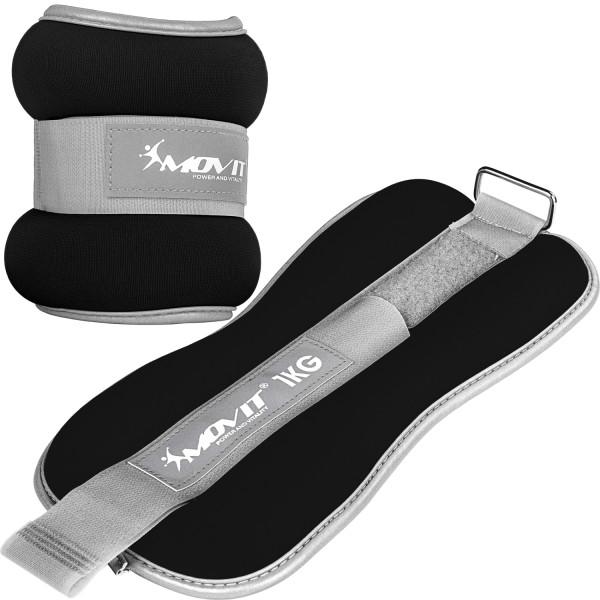 MOVIT® Neopren Gewichtsmanschetten 2x1 kg schwarz Reflex F