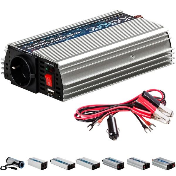 VOLTRONIC® Spannungswandler Inverter 12V auf 230V 300W USB