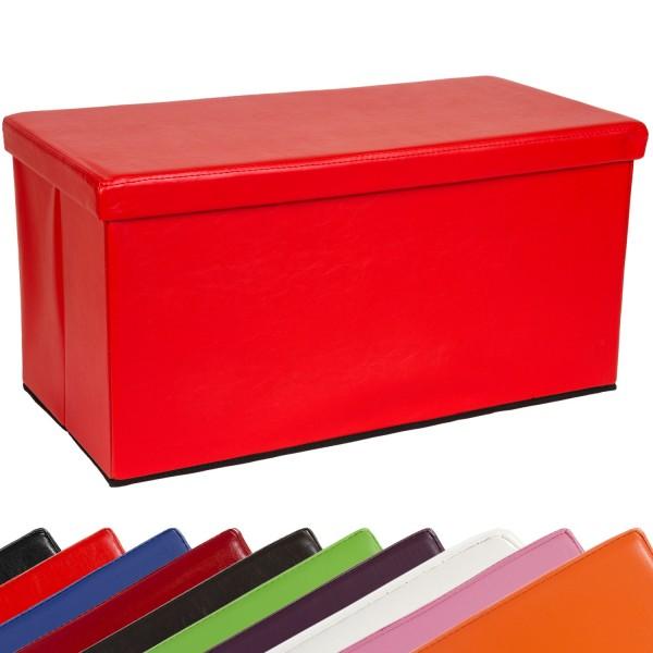 STILISTA® Bigbox, Faltbox, Sitzhocker, Sitzwürfel, Rot