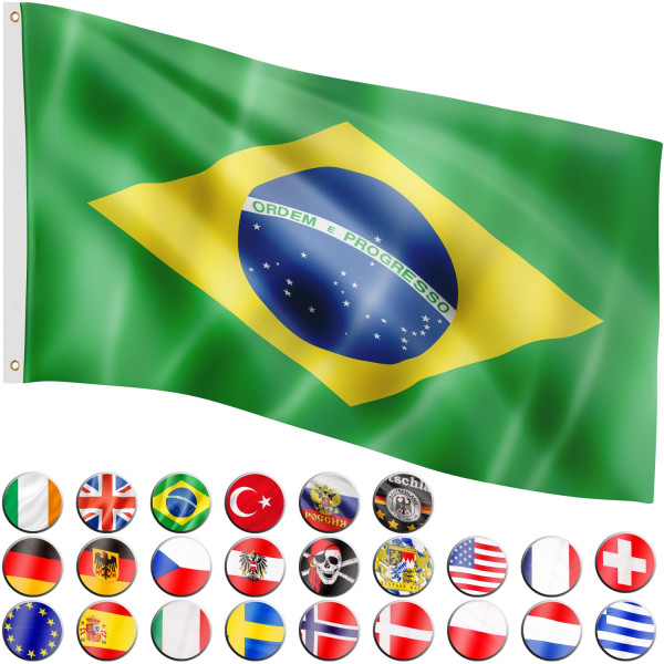 FLAGMASTER® Fahne Brasilien Flagge