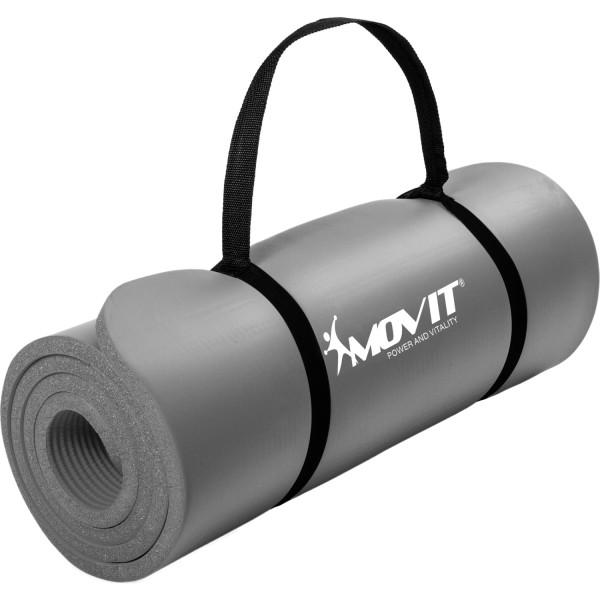 MOVIT® Gymnastikmatte, 183x60x1,0 cm, Yogamatte, Grau