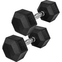 MOVIT® Hexagon Rubber Hantel 15kg 2er Set