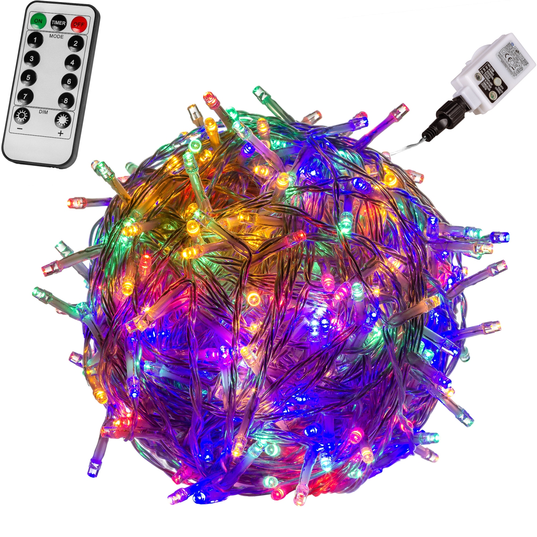 Voltronic 400 led lichterkette bunt kabel trans fb 400 led mit fernbedienung led - Led lichterkette bunt mit fernbedienung ...