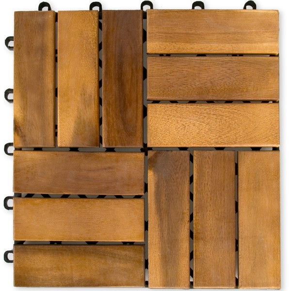 STILISTA® 11er Set 30 x 30 x 2,4 cm aus Akazienholz Natur