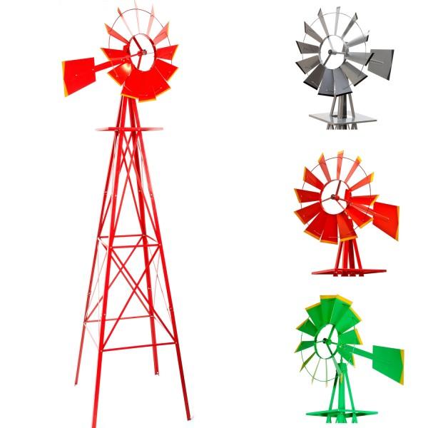Windmühle im US-Style rot, 245 cm hoch