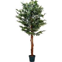 PLANTASIA® Marihuana-Strauch, Kunstbaum, Kunstpflanze, 150cm