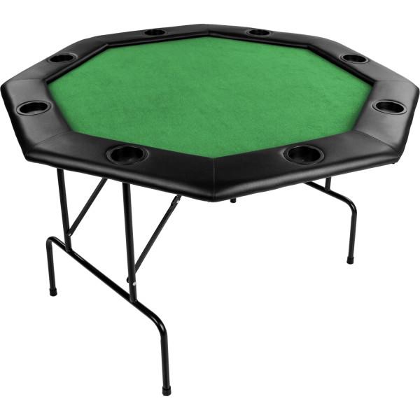 Pokertisch 122x122x76cm, Farbe grün