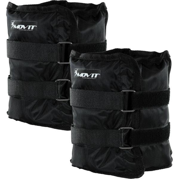 MOVIT® Gewichtsmanschetten, 2x 3,0 kg Laufgewichte schwarz